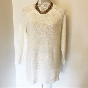 White Sparkly Sweater
